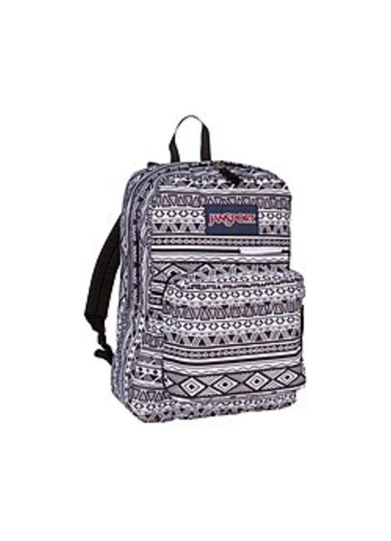 JanSport A3EN20GT Digibreak 2 Backpack for 15-inch Laptop - Black, White Jazzy Geo