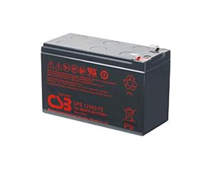 CSB UPS Series UPS12460 460 Watts Lead Acid Battery - 12 V - Replacement for RBC2 Batteries