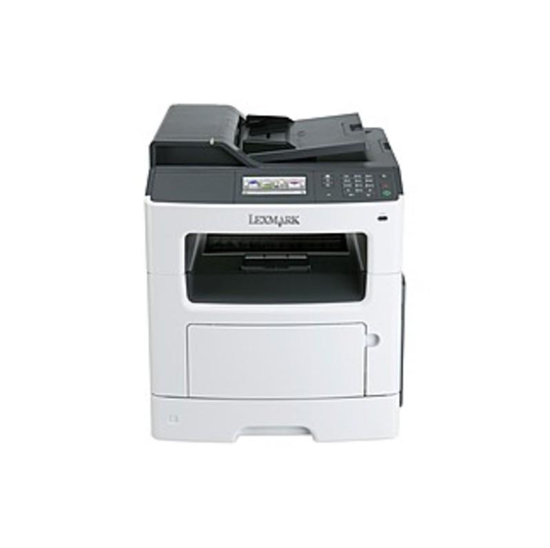 Lexmark MX410DE Laser Multifunction Printer - Monochrome - Plain Paper Print - Desktop - Copier/Fax/Printer/Scanner - 38 ppm Mono Print - 1200 x 1200 (35ST892_C2 35ST892) photo