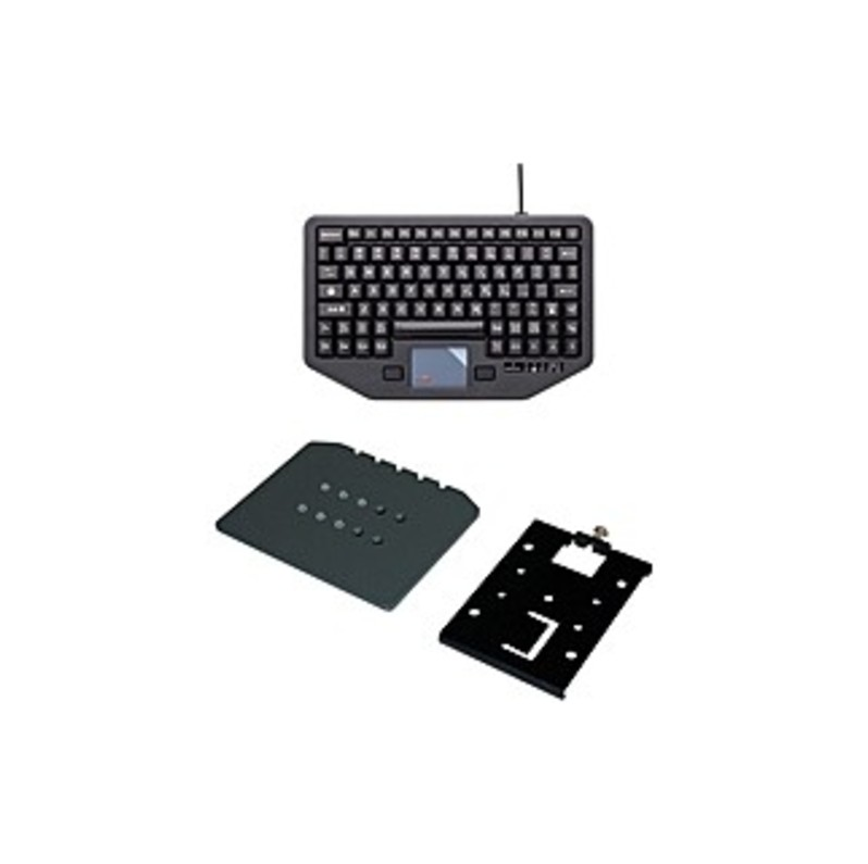 Havis iKey Keyboard - Cable Connectivity - USB Interface - 88 KeyTouchPad - Compatible with Vehicle Mount Computer - Emergency Hot Key(s) - QWERTY Key