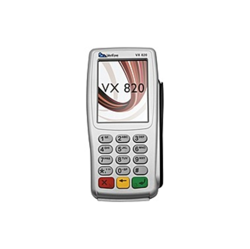 "VeriFone VX 820 Payment Terminal - 3.5"" - Color - ARM ARM11 400 MHz - 32 MB RAM - Ethernet - Near Field Communication - Multi-port - Pin Pad, PCI PED"