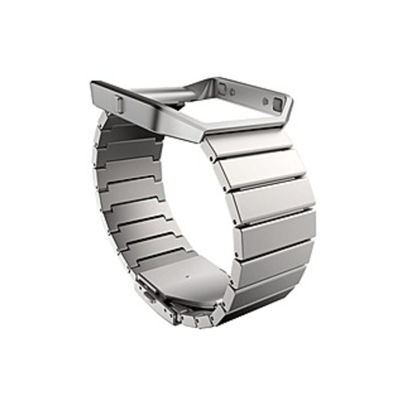 Fitbit Sleep/Activity Monitor Wristband - Steel - Stainless Steel