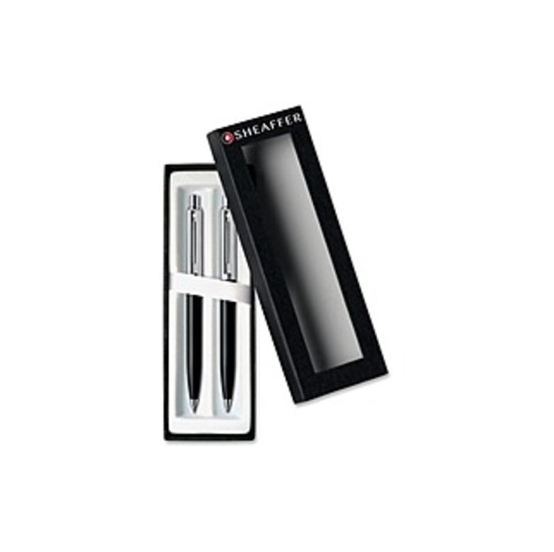 Cross Sheaffer Resin Barrel Pen/Pencil Set - 0.7 mm Lead Size - Black Ink - Black Resin Barrel - 1 Set