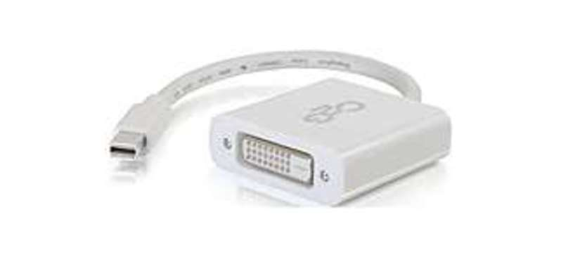 C2G 757120543190 54319 8-inch Mini DisplayPort to DVI-D Active Adapter Converter - White