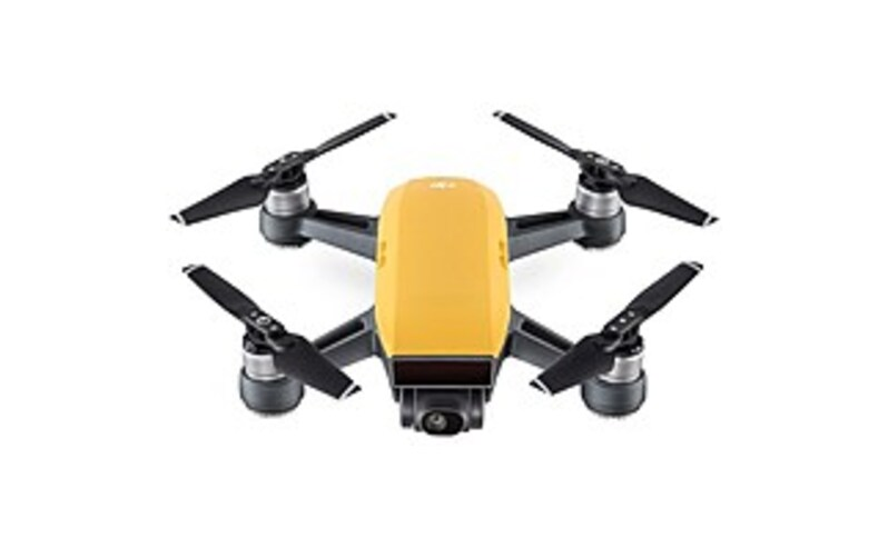 DJI CP.PT.000732 Spark Mini Drone with 12 Megapixels Camera - Sunrise Yellow