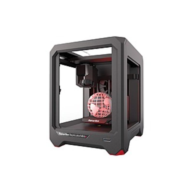 "MakerBot Replicator Mini+ 3D Printer - 4.96"" x 4.96"" x 3.98"" Build Size - Fused Deposition Modeling - Single Jet - 3.9 mil Layer - 68.9 mil Filament -"