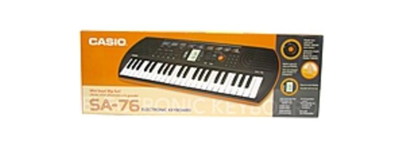 Casio CASSA76EDP SA-76 44-key Keyboard Bundle Kit - 100 Tones - 50 Rhythms - 10 PLay Along Songs