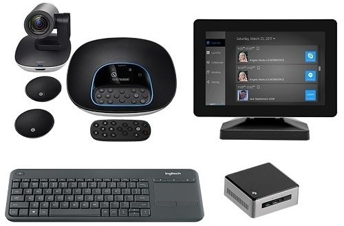 Logitech GROUPNUC-MIMO Premium GROUP Video Conferencing Kit with Intel NUC Kit and MIMO Vue Capture 10.1-inch Touchscreen Monitor