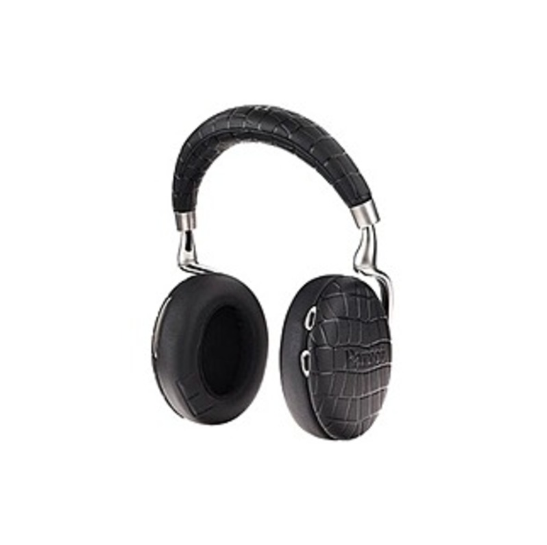 Parrot Zik Headset - Stereo - Black Croc - Mini-phone - Wired/Wireless - Bluetooth - 20 Hz - 22 kHz - Over-the-head - Binaural - Circumaural - 4.27 ft