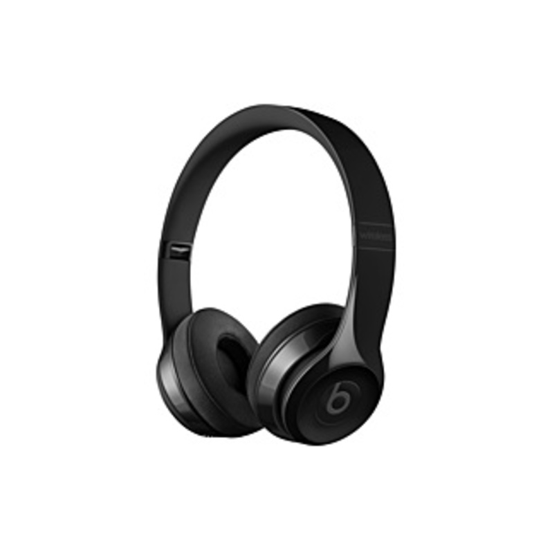 Beats by Dr. Dre Solo3 Wireless On-Ear Headphones - Gloss Black - Stereo - Gloss Black - Mini-phone - Wired/Wireless - Bluetooth - Over-the-head - Bin