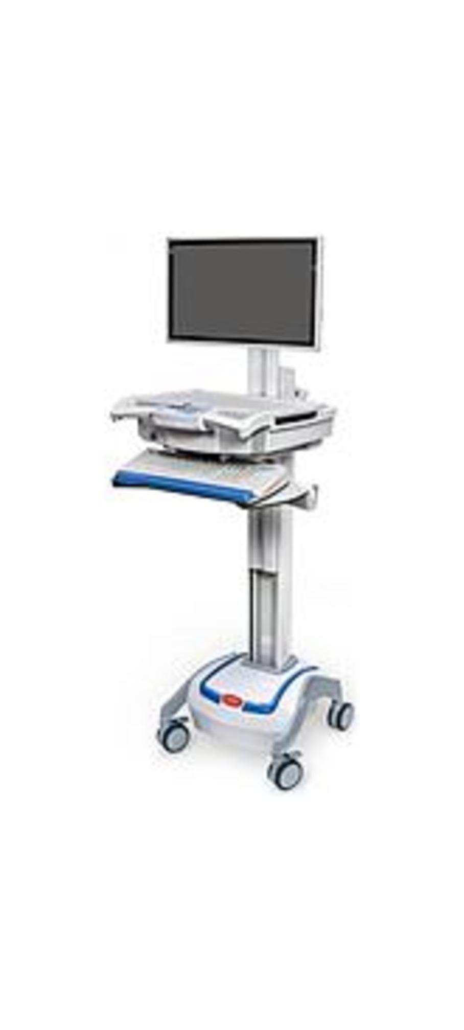 Capsa Healthcare 1975076 M38e XP Non-Powered Point of Care Mobile Cart - White