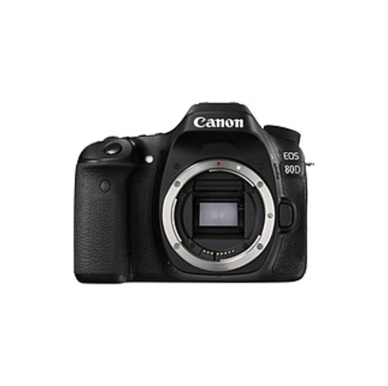 "Canon EOS 80D 24.2 Megapixel Digital SLR Camera Body Only - Black - 3"" Touchscreen LCD - 16:9 - E-TTL II - 6000 x 4000 Image - 1920 x 1080 Video - HDM"