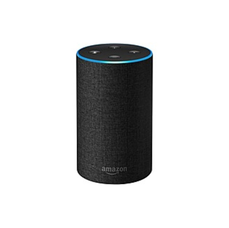 Amazon Echo Smart Speaker - Charcoal - 360? Circle Sound - Wireless LAN - Bluetooth - Alarm, Multiroom Capability, Hands-free, Omnidirectional Sound,