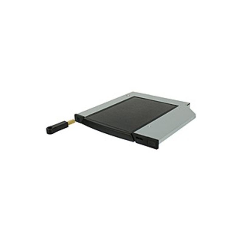 """CRU DataPort 27L DP27L Drive Bay Adapter Internal - Black - 1 x Total Bay - 1 x 2.5"""" Bay - Serial ATA/600 - Serial ATA/600 - Metal, Plastic - 5.25"""""""