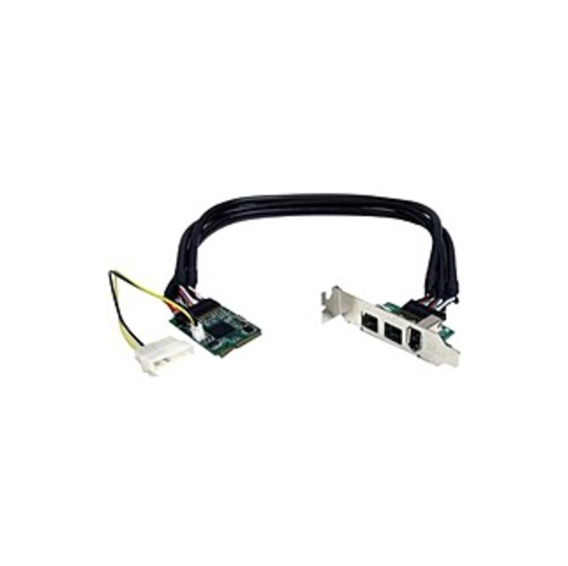 StarTech.com 3 Port 2b 1a 1394 Mini PCI Express FireWire Card Adapter - FireWire adapter - PCIe Mini Card - FireWire 800 - 2 ports + 1 x FireWire
