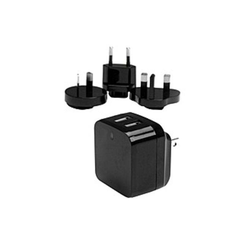 http://www.techforless.com - StarTech.com Dual Port USB Wall Charger – High Power (17 Watt / 3.4 Amp) – Travel Charger (International) – 17 W Output Power – 120 V AC, 230 V AC Inp 8.97 USD