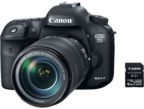 Canon 9128B135 EOS 7D Mark II 20.2 Megapixel DSLR Camera with 18-135mm f/3.5-5.6 IS USM Lens and W-E1 Wi-Fi Adapter