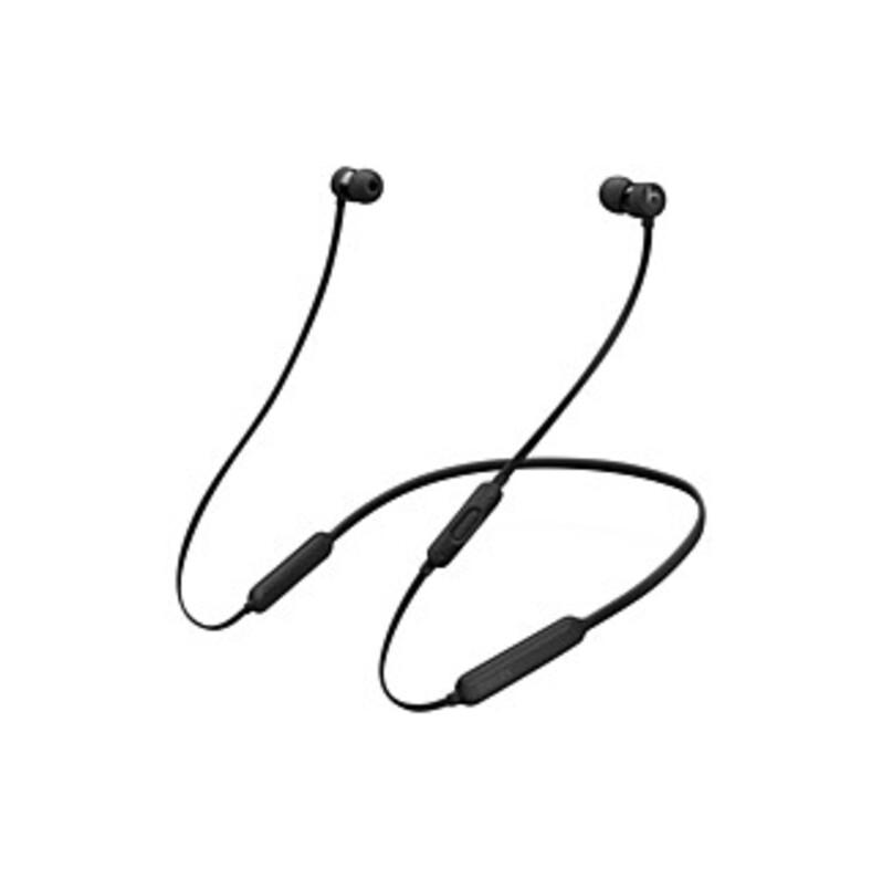 Beats by Dr. Dre BeatsX Earphones - Black - Stereo - Black - Wireless - Bluetooth - Behind-the-neck, Earbud - Binaural - In-ear