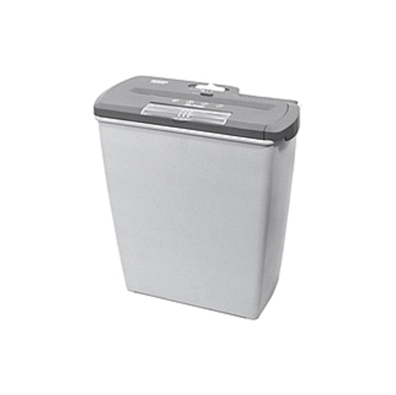Aurora AS810SD Light Duty Shredder with Wastebasket - Strip Cut - 8 Per Pass - for shredding Paper, Credit Card, CD, DVD, Staples, Paper Clip - 0.250