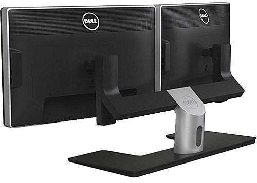 Dual Monitor Desk Stand for 24-inch Monitors - Black - Dell MDS14