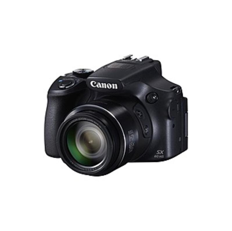 "Canon PowerShot SX60 HS 16.1 Megapixel Bridge Camera - Black - 3"" LCD - 16:9 - 65x Optical Zoom - 4x - Optical (IS) - 4608 x 3456 Image - 1920 x 1080"