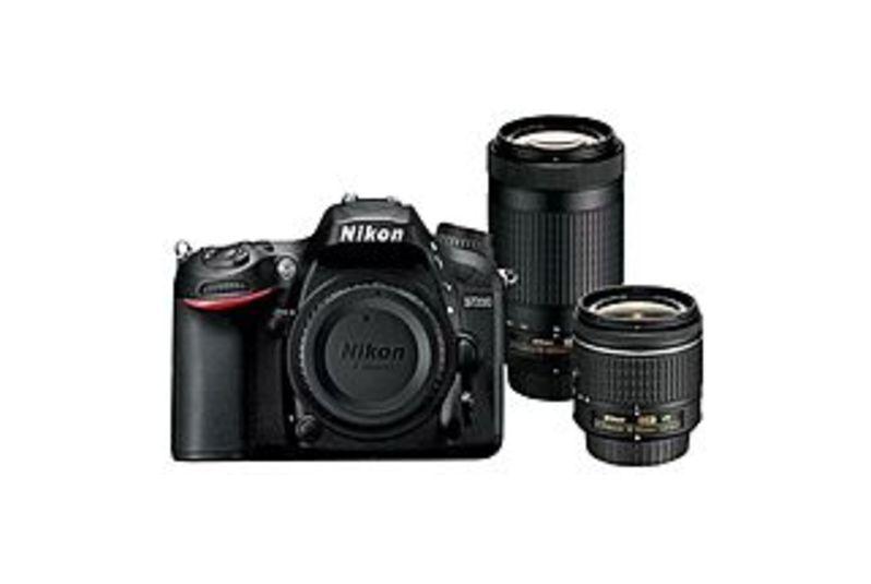 "Nikon D7200 24.2 Megapixel Digital SLR Camera with Lens - 18 mm - 55 mm (Lens 1), 70 mm - 300 mm (Lens 2) - 3.2"" LCD - 16:9 - 3.1x/4.3x Optical Zoom -"