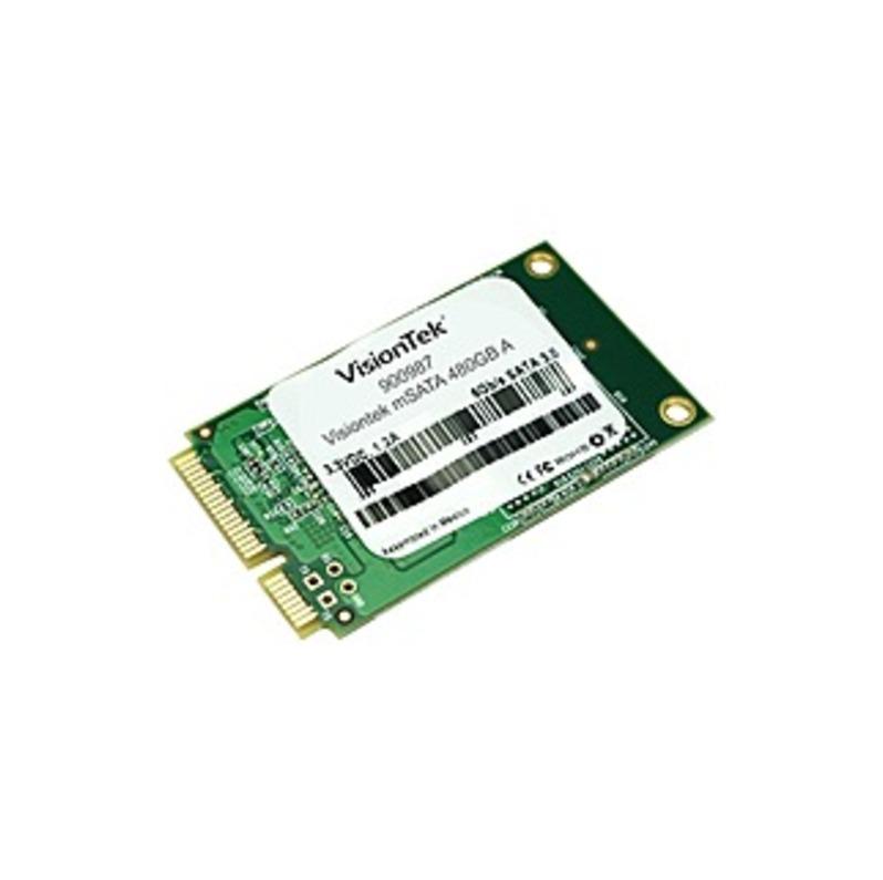 VisionTek 480 GB Solid State Drive Cartridge - SATA (SATA/600) - Internal - mSATA - 550 MB/s Maximum Read Transfer Rate - 445 MB/s Maximum Write Trans