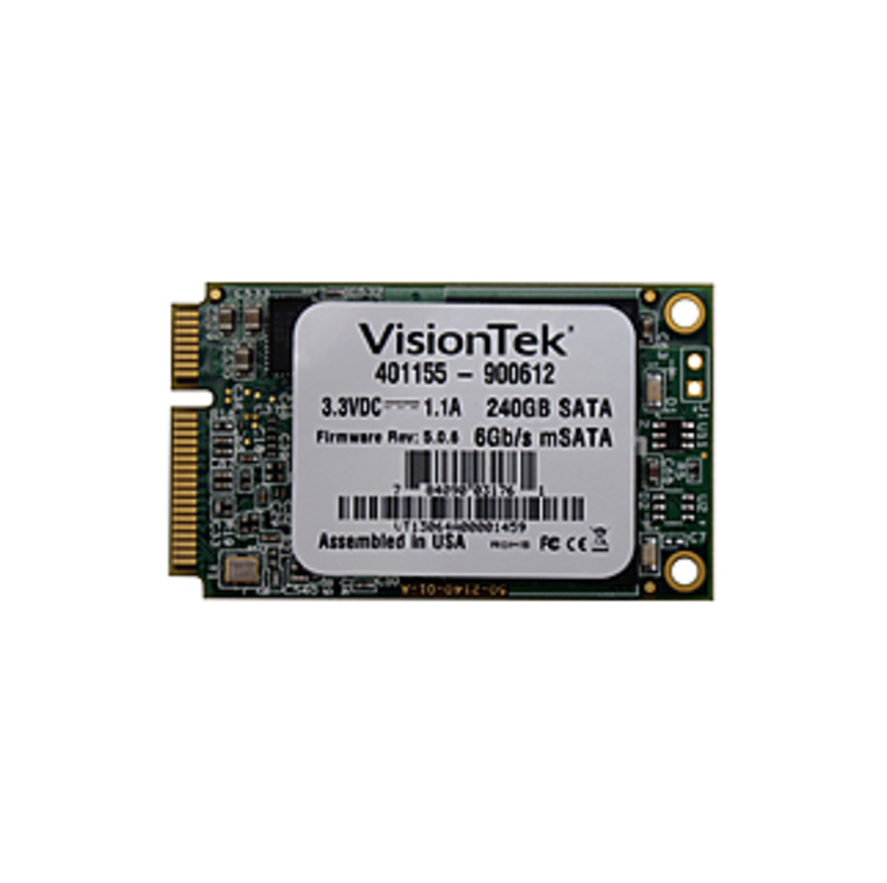 VisionTek 240 GB Solid State Drive - mini-SATA (SATA/600) - Internal - Plug-in Module - 540 MB/s Maximum Read Transfer Rate - 425 MB/s Maximum Write T