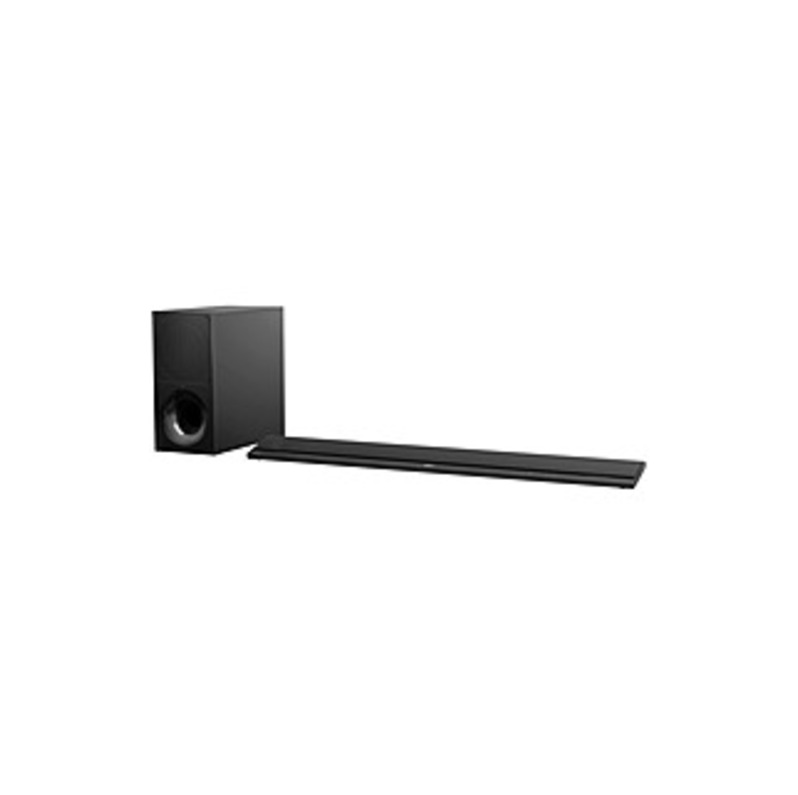 """Sony 2.1-Channel Soundbar System with 6.3"""" Wireless Subwoofer and Digital Amplifier Black HTCT800"""