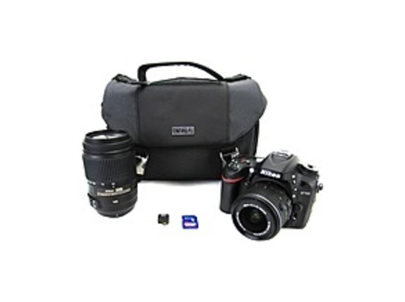 Nikon D7100 018208134533 24.1 Megapixels Digital Camera Bundle - 7.8x Optical Zoom - 3.2-inch LCD Display - 18-55VR Lens - 55-300mm Lens - Case