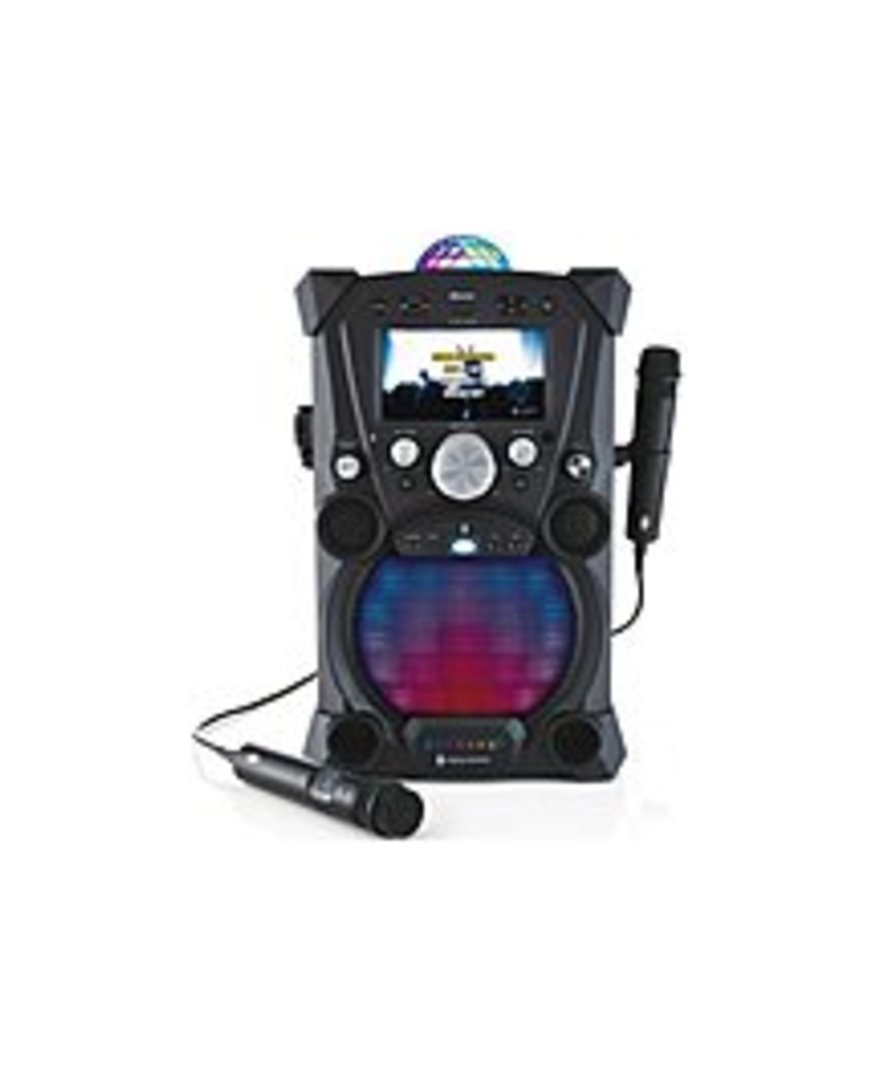 Singing Machine SDL9035 Carnaval Portable Hi-Def Karaoke System - Bluetooth - 7-inch LCD Display - Black