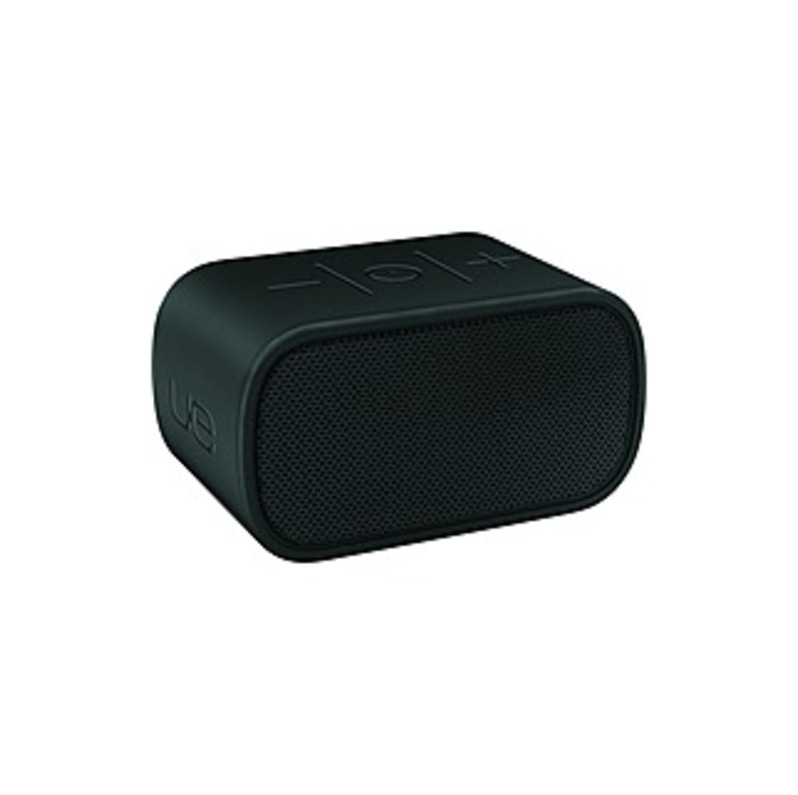Ultimate Ears MINI BOOM Speaker System - Wireless Speaker(s) - Portable - Battery Rechargeable - Black - 130 Hz - 20 kHz - 49.2 ft - Bluetooth - Near