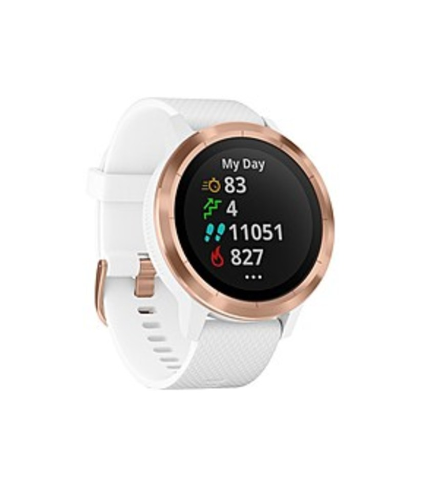 Garmin_010-01769-09_vivoactive_3_GPS_Smartwatch_with_Silicone_Band_-_White_with_Rose_Gold_Hardware