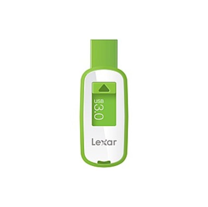 Lexar JumpDrive S25 USB 3.0 Flash Drive - 32 GB - USB 3.0 - Green - 256-bit AES
