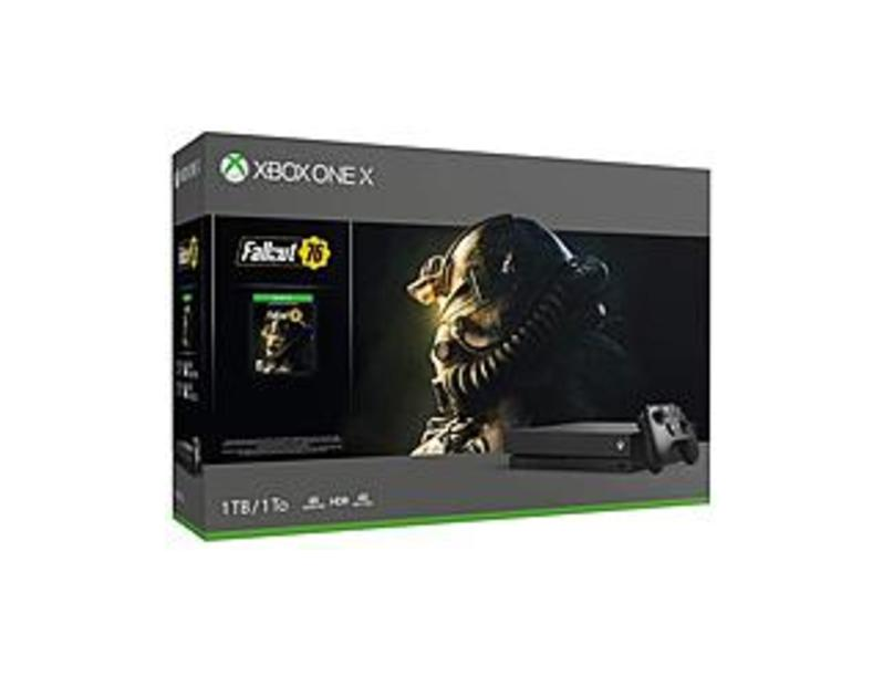 Microsoft Xbox One X Fallout 76 Bundle (1TB) - Kinect, Game Pad Supported - Wireless - Black - 3840 x 2160 - 2160p - MPEG-2, MPEG-1, WMV, VP9, MPEG-4