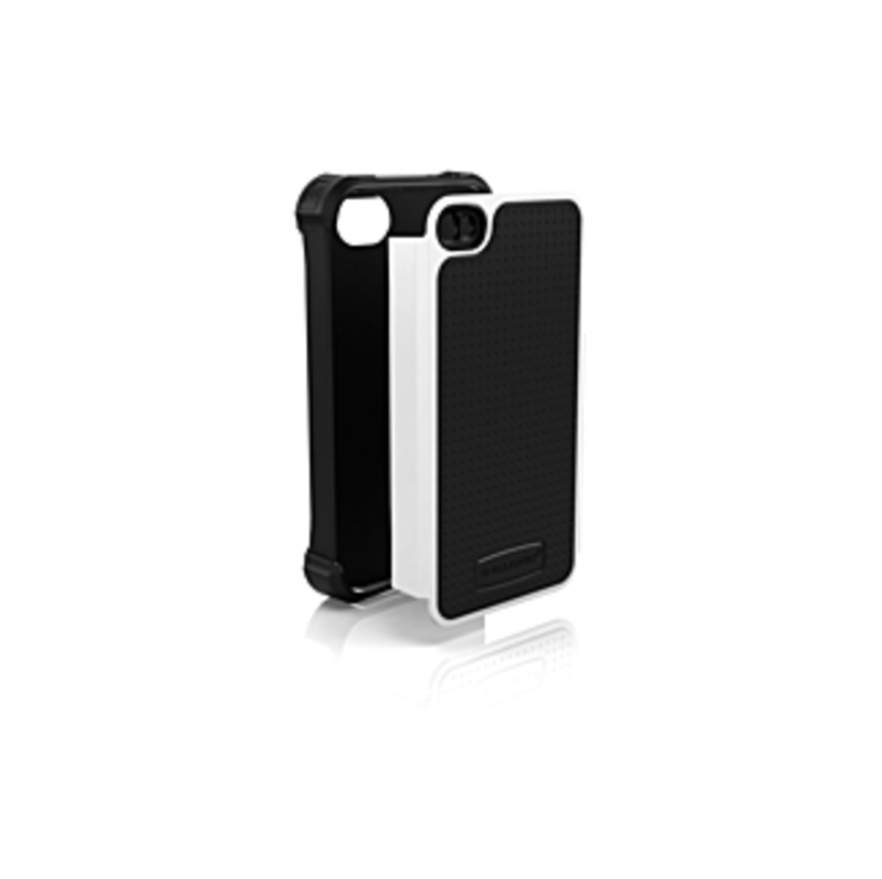 Ballistic iPhone 4/4S Shell Gel SG Series Case - iPhone - Black, White - Shock Absorbing, Impact Resistant - Polycarbonate, Silicone, Polymer