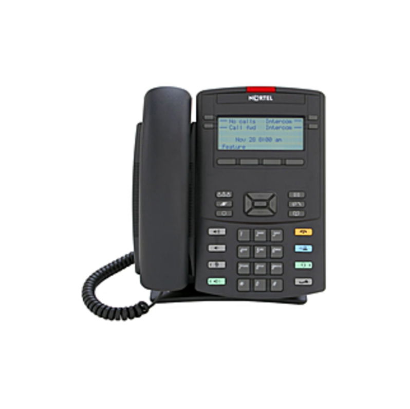 Nortel 1220 IP Phone - Wall Mountable, Desktop - VoIP - Speakerphone - PoE Ports