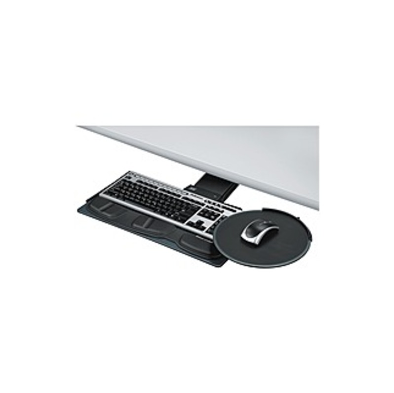 """Fellowes Professional Series Sit / Stand Keyboard Tray - 14"""" Height x 29"""" Width x 21"""" Depth - Black"""