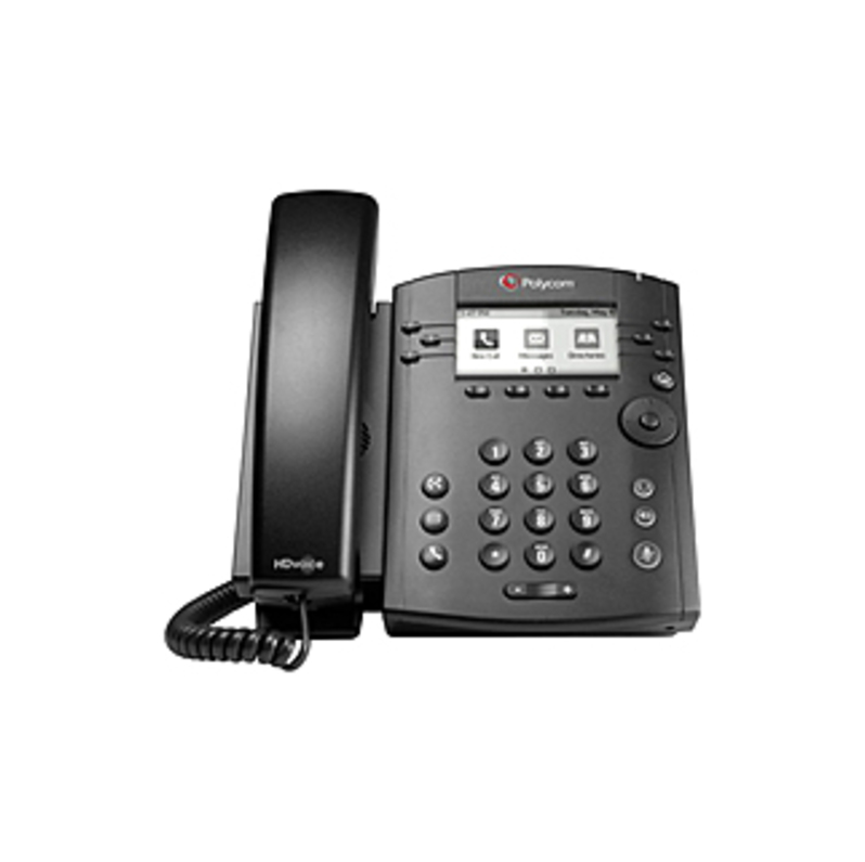 Polycom VVX 300 IP Phone - 6 x Total Line - VoIP - Speakerphone - 2 x Network (RJ-45) - PoE Ports