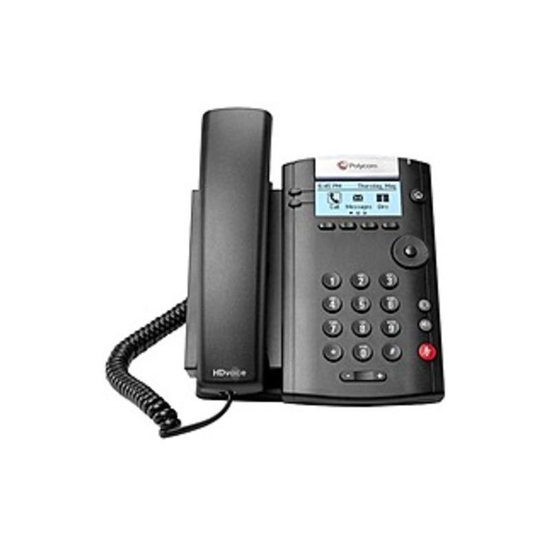 Polycom 201 IP Phone - Desktop, Wall Mountable - 2 x Total Line - VoIP - Caller ID - Speakerphone - 2 x Network (RJ-45) - PoE Ports - SIP, SDP, DHCP,