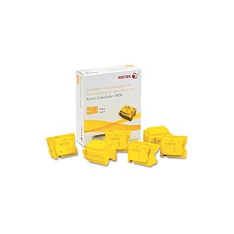 Xerox Solid Ink Stick - Solid Ink - Yellow - 6 / Box