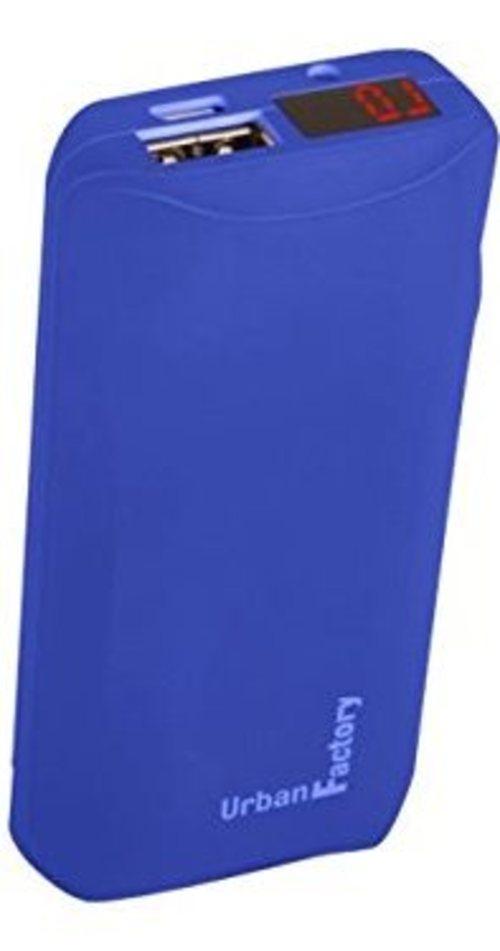 Urban Factory BAN60UF 6000 mAh Backup Battery - 2.4 A - USB - Blue