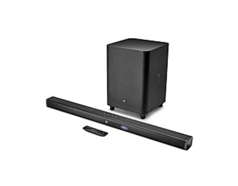 """JBL 3.1-Channel Soundbar System with 10"""" Wireless Subwoofer and Digital Amplifier Black JBLBAR31BLKAM"""