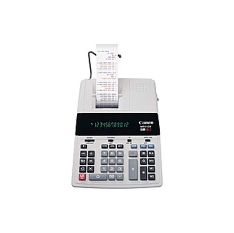 Canon MP21DX Color Printing Calculator - 3.5 - Heavy Duty, Paper Holder, Easy-to-read Display, Round Down, Round Off, Round Up, Sign Change, Item Coun