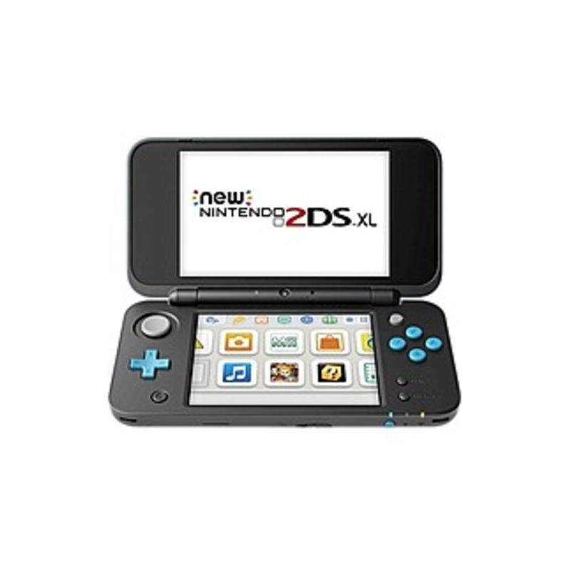 "Nintendo New Nintendo 2DS XL - 4.9"" Active Matrix TFT Color LCD - Black, Turquoise - Dual Screen - 4-way - 400 x 240"