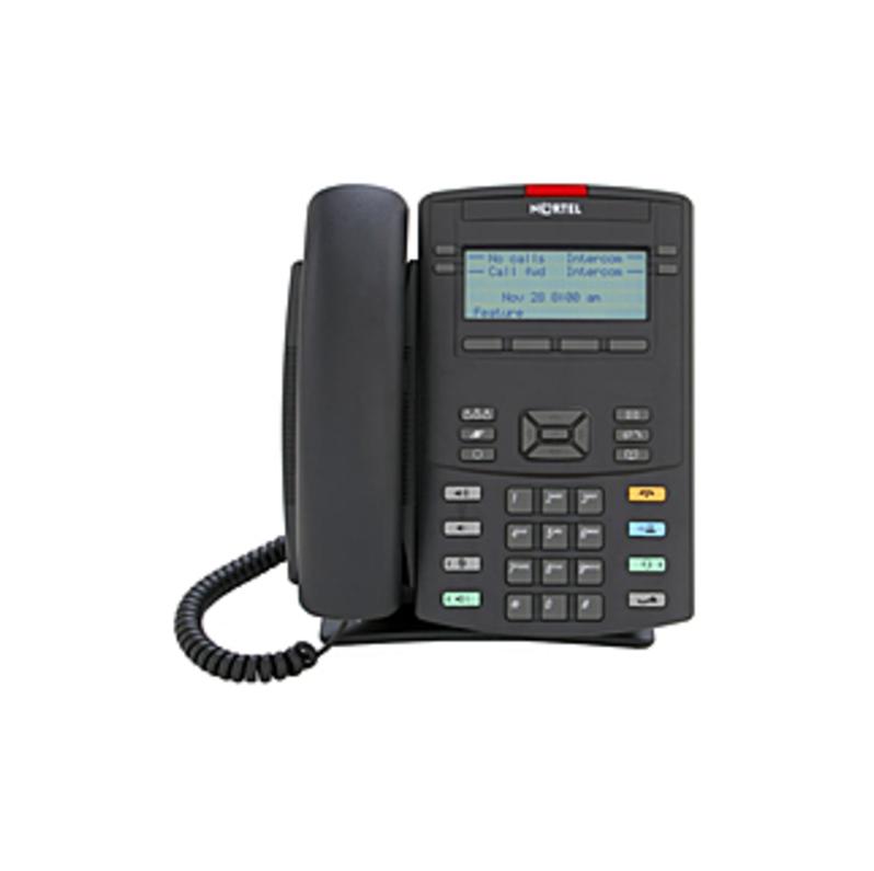 Nortel 1220 IP Phone - Wall Mountable, Desktop - VoIP - Speakerphone - PoE Ports