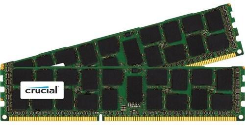 Crucial Technology CT2K16G3ERSDD4186D 32 GB (2 x 16 GB)240-Pin DIMM DDR3 SDRAM PC3-14900 Memory Module - CL13 - ECC photo