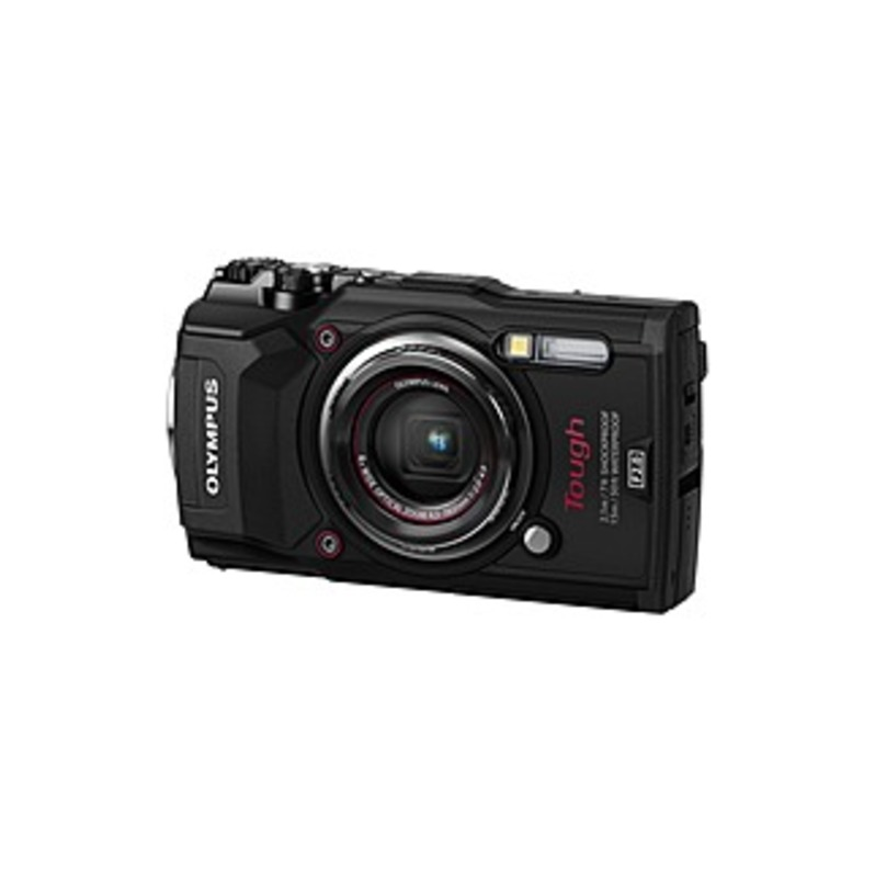 "Olympus Tough TG-5 12 Megapixel Compact Camera - Black - 3"" LCD - 4x Optical Zoom - 4x Digital Zoom - Optical (IS) - 4000 x 3000 Image - 3840 x 2160 V"