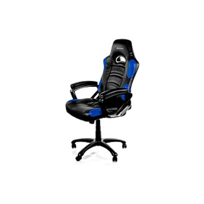 Arozzi Enzo Racing Style Gaming Chair, Blue - For Game - Nylon, PU Leather - Blue