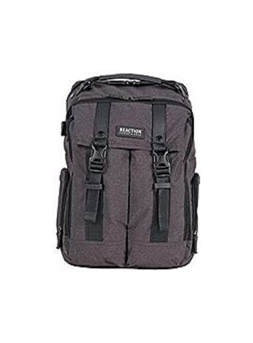 Kenneth_Cole_023572509634_Reaction_600d_Polyester_Backpack_for_15.6_inch_Laptop_with_USB_Port_-_Gray